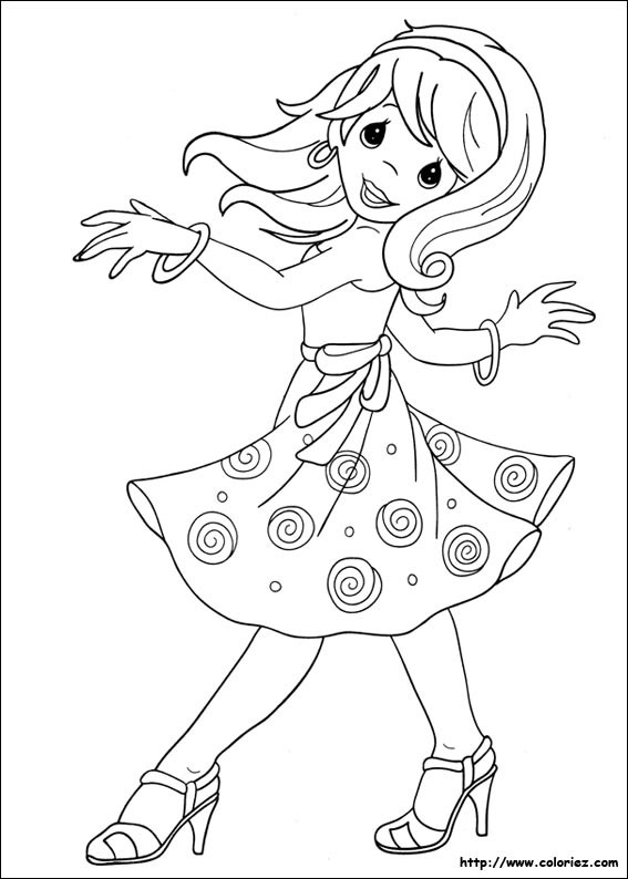 Coloriage et dessins gratuits Une Fille qui danse à imprimer