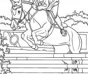 Coloriage equitation gratuit imprimer liste 20 40 - Coloriage cheval qui saute ...