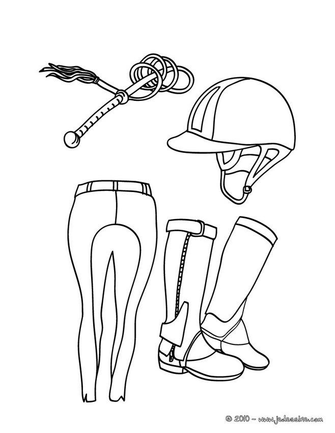 Coloriage et dessins gratuits Équipement D'Équitation à imprimer