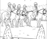 Coloriage dessin  Equitation 13
