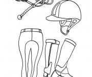 Coloriage dessin  Equitation 2