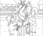 Coloriage dessin  Equitation 20