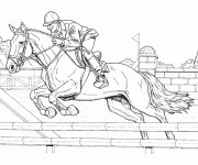 Coloriage dessin  Equitation 3