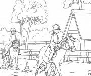 Coloriage dessin  Equitation 6