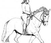 Coloriage dessin  Equitation 9