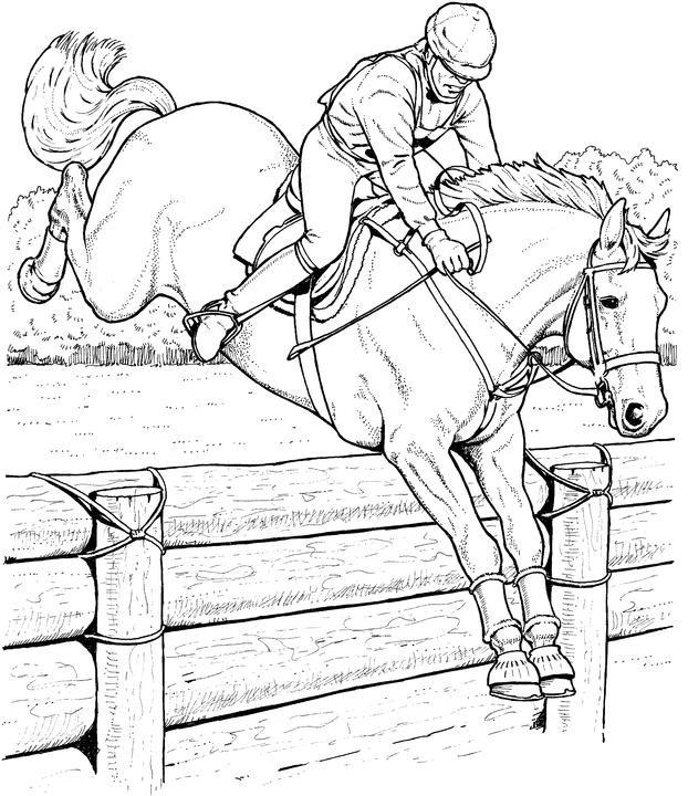 Coloriage et dessins gratuits Équitation et Cavalier stylisé à imprimer