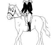 Coloriage Equitation