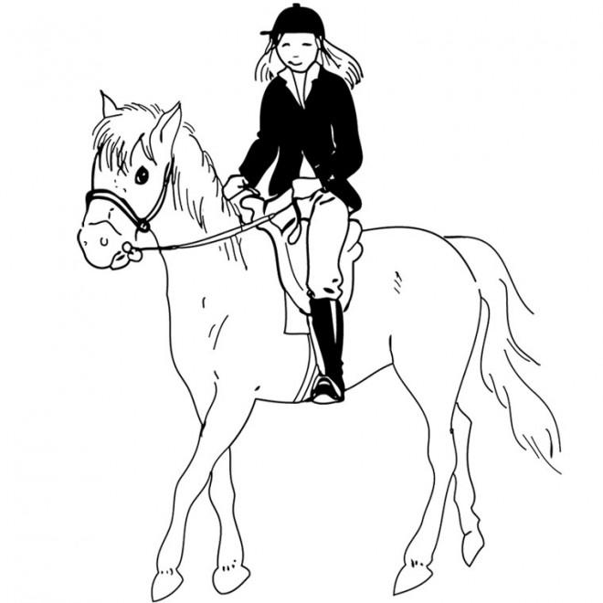 Coloriage quitation maternelle dessin gratuit imprimer - Coloriage equitation ...