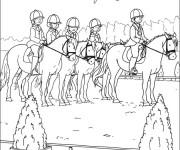 Coloriage et dessins gratuit Équitation  pour enfant à imprimer