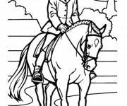 Coloriage et dessins gratuit Équitation  vecteur à imprimer
