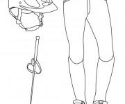 Coloriage et dessins gratuit Les Vêtements de cavalier à imprimer