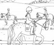 Coloriage et dessins gratuit Parcours des Chevaux à imprimer