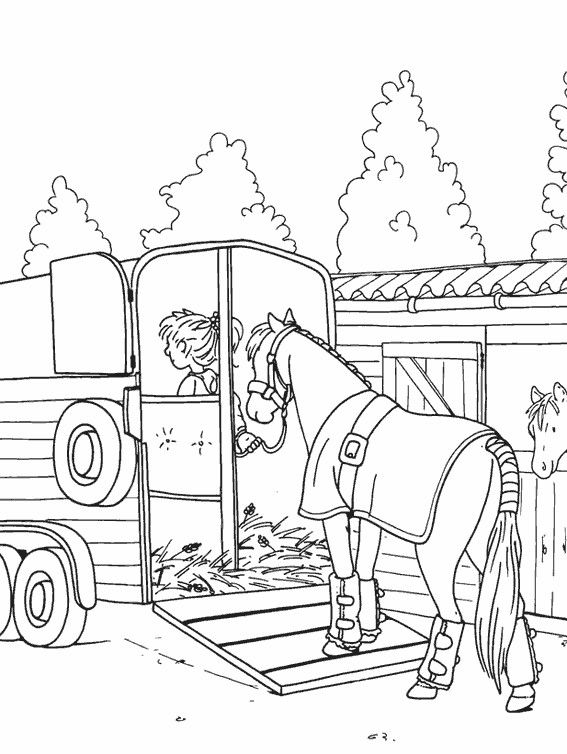 Coloriage un cheval de course dessin gratuit imprimer - Dessin de martine a imprimer ...