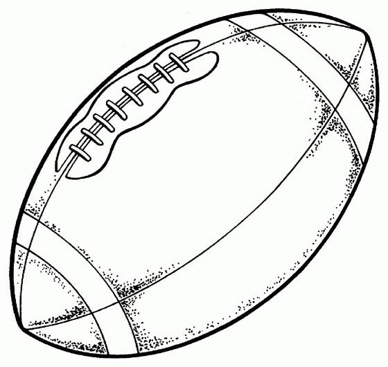 Coloriage et dessins gratuits Ballon de Foot américain à imprimer