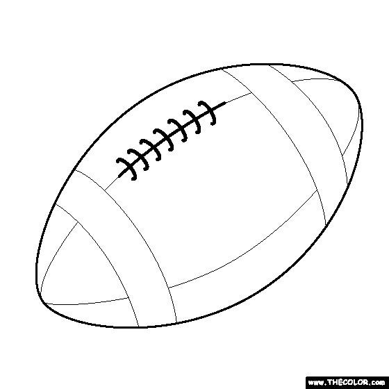 Coloriage Ballon De Foot Américain Stylisé