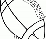 Coloriage et dessins gratuit Ballon de Rugby à imprimer
