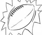 Coloriage Ballon Rugby couleur