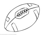 Coloriage et dessins gratuit Ballon Rugby facile à imprimer