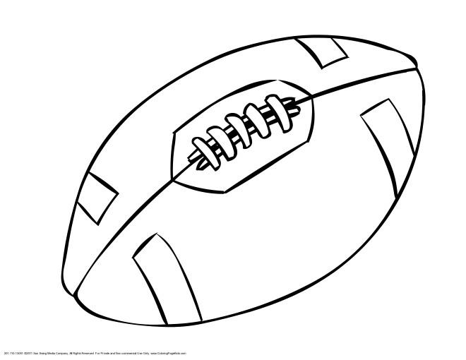 Coloriage et dessins gratuits Ballon Rugby facile à imprimer