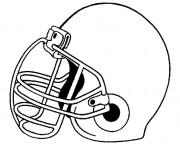 Coloriage et dessins gratuit Casque de Football américain à imprimer