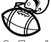 Coloriage Casque et Ballon Foot américain
