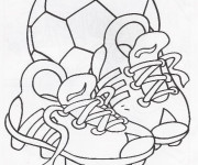 Coloriage Chaussures de Foot