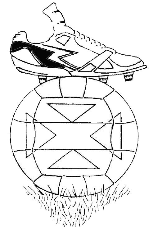 Coloriage et dessins gratuits Chaussures et Ballon de Foot à imprimer