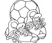 Coloriage Équipement Football