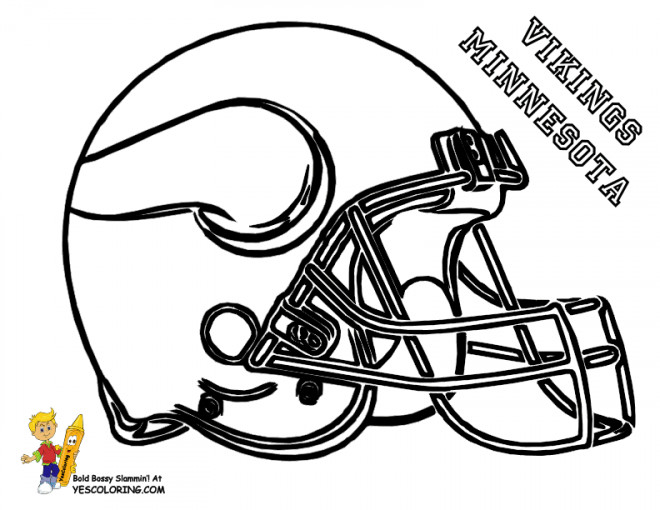 Coloriage Football Americain.Coloriage Foot Americain Vikings Minnesota