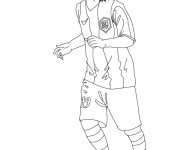 Coloriage Foot Messi