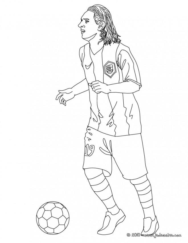 Coloriage et dessins gratuits Foot Messi à imprimer