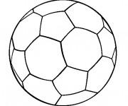 Coloriage Football ballon couleur