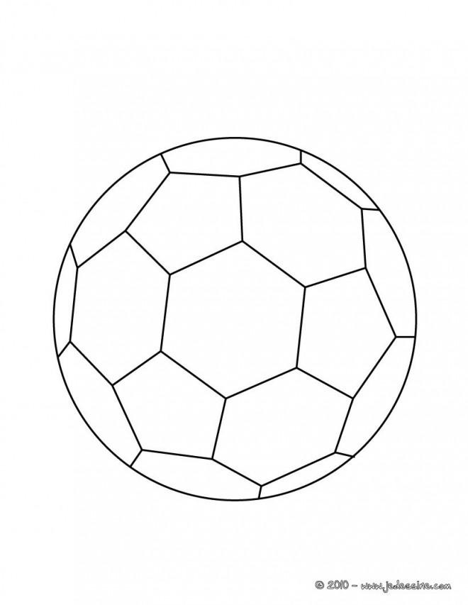Coloriage et dessins gratuits Football Ballon en couleur à imprimer