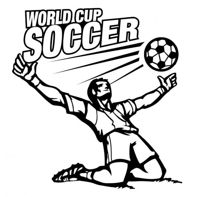 Coloriage et dessins gratuits Football Coupe Du Monde à imprimer