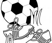 Coloriage Football en noir et blanc