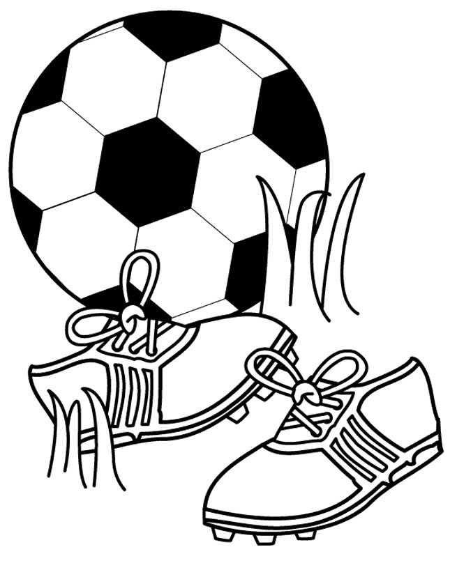 Coloriage et dessins gratuits Football en noir et blanc à imprimer