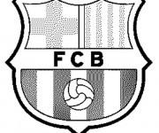 Coloriage Football Équipe de Barcelone