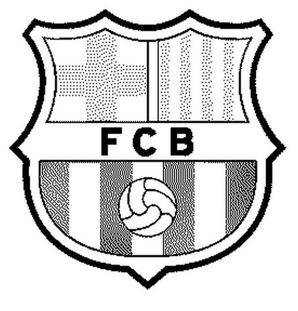Coloriage et dessins gratuits Football Équipe de Barcelone à imprimer