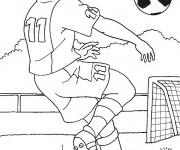 Coloriage et dessins gratuit Football Frappe avec la tête à imprimer