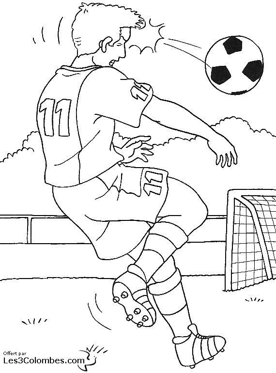 Coloriage et dessins gratuits Football Frappe avec la tête à imprimer