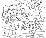 Coloriage Football Joueur aggressif