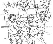 Coloriage Football La joie de gagner La Coupe