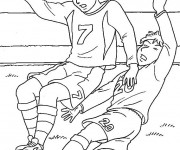 Coloriage Football maternelle