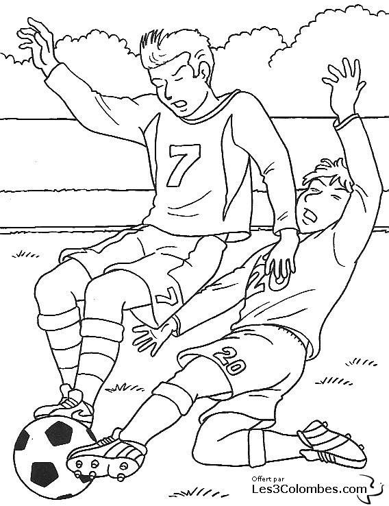Coloriage football maternelle dessin gratuit imprimer - Coloriage gardien de foot ...