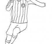 Coloriage Football Messi facile