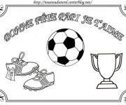 Coloriage Football pour Pères