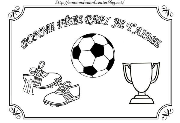 Coloriage et dessins gratuits Football pour Pères à imprimer