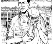 Coloriage Football Zidane