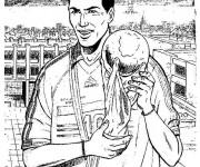 Coloriage et dessins gratuit Football Zidane à imprimer