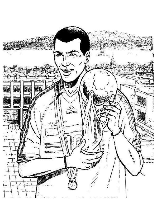 Coloriage et dessins gratuits Football Zidane à imprimer